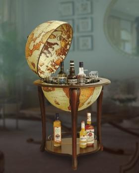 Aristocratic Floor Globe Bar
