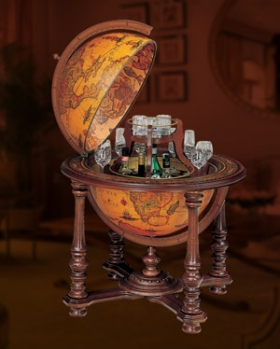 Grand Throne Room Floor Globe Bar