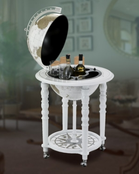 In Vogue Italian Elegance Floor Globe Bar