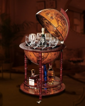 Sixteenth Century Replica Italian-Style Globe Bar